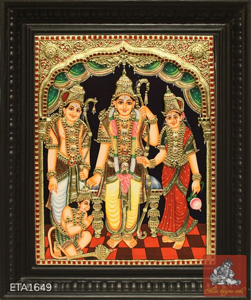 Special Ramar Tanjore Painting