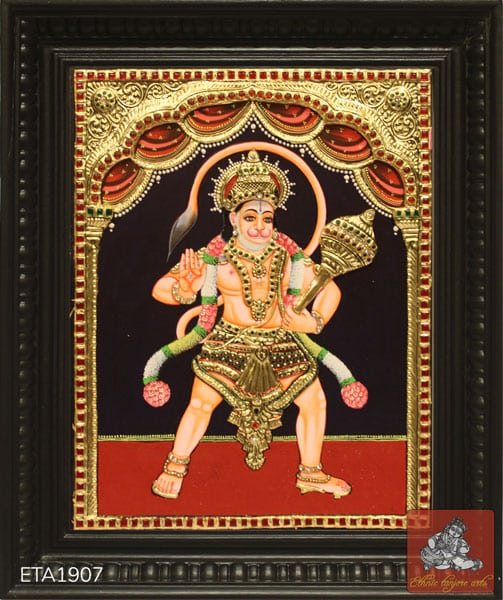Lord Standing Hanauman Tanjore Painting