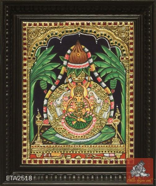 Goddess Varalakshmi Tanjore Painting (08x10)