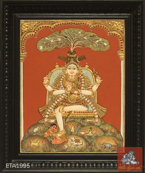 Dakshnamoorthi Antique Tanjore Painting