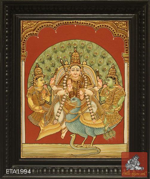 Murugan Antique Tanjore Painting