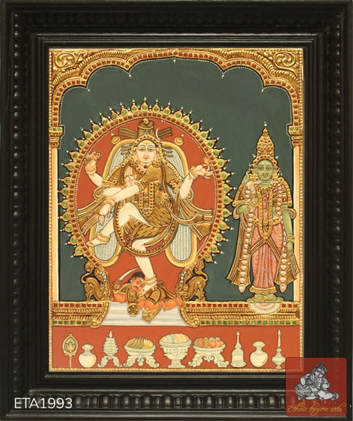 Lord Natrajar Antique Tanjore Painting