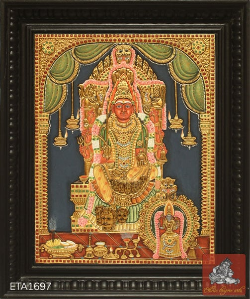 Samayapuram Antique Tanjore Painting