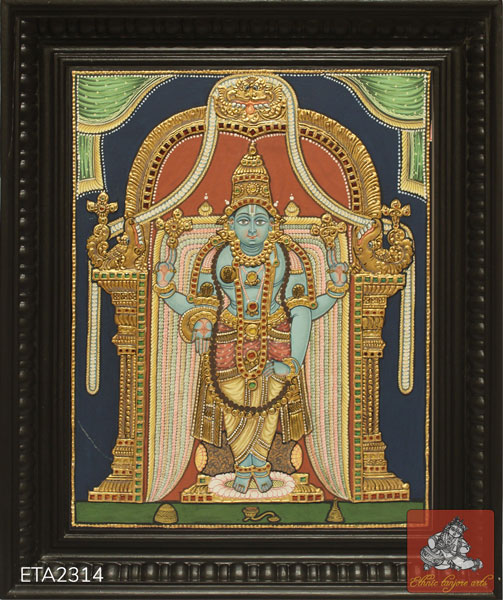 Srinivasa Perumal Antique Tanjore Painting